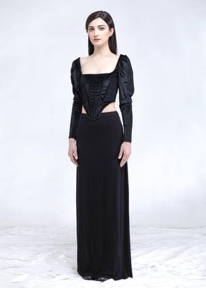 Image of SAMPLE SALE - Black Velvet Corset Top
