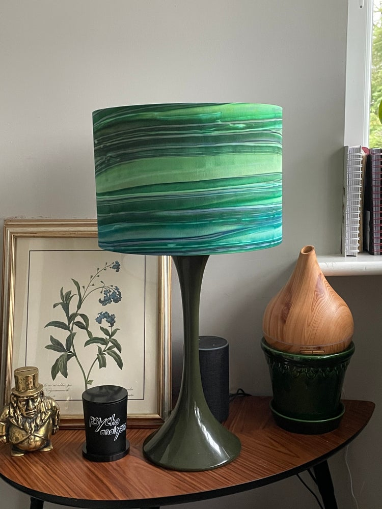 Image of Patina Handpaints Stripes Emerald Shade 30cm
