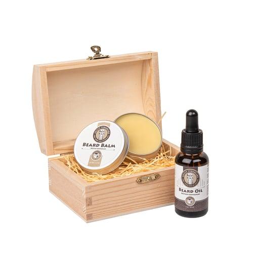 Image of Beard Oil + Beard Balm Wooden Box