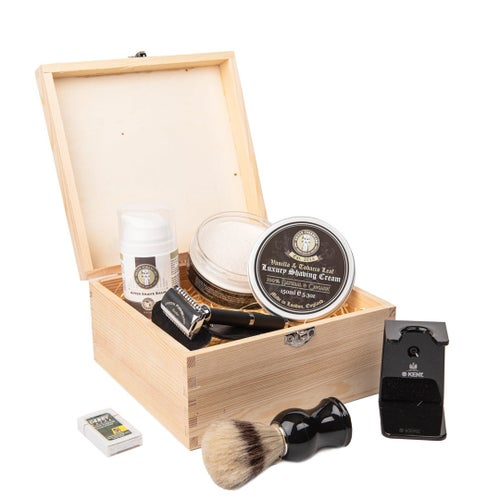 Image of Shaving Essentials Wooden Gift Box