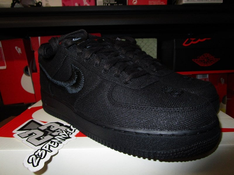 "Image of Air Force 1 Low x Stussy ""Black"""