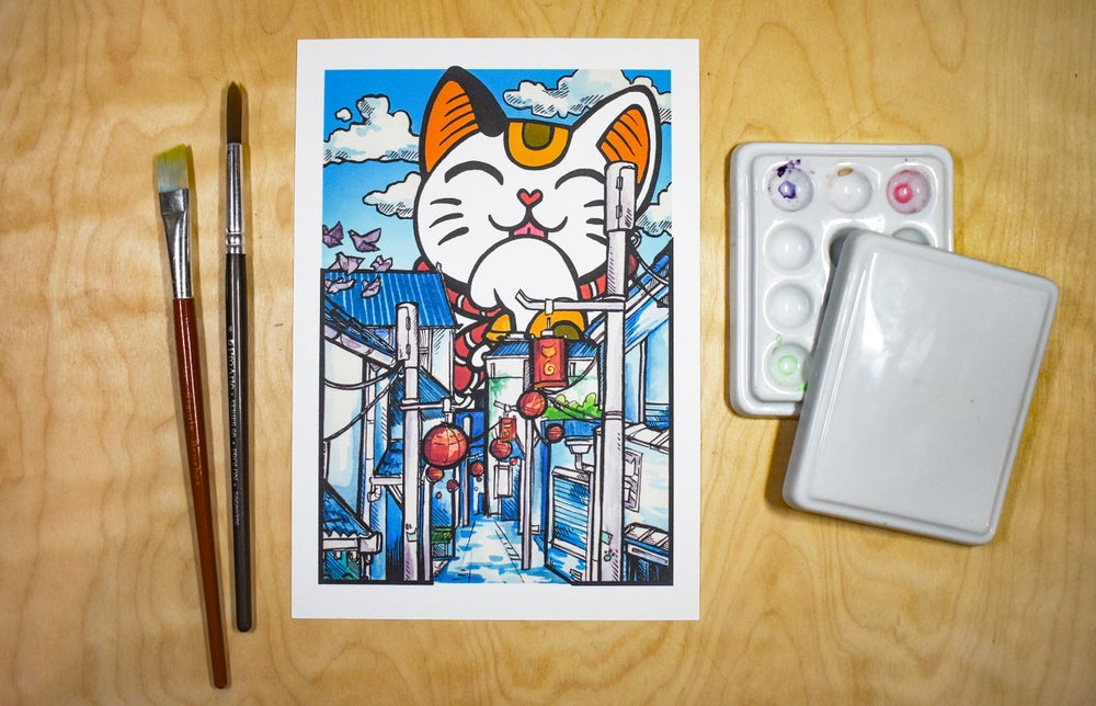 Image of Lucky Cat Perspective - Art Print
