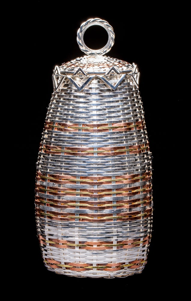 Image of Sterling Silver and copper basket