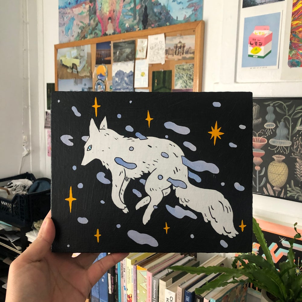Image of Space Wolf Painting