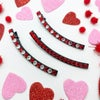 Crystal BLING Crescent Clips- Valentine's Day Collection
