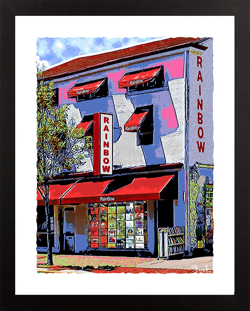 "Rainbow Records Newark DE Giclée Art Print - 11"" x 14"""