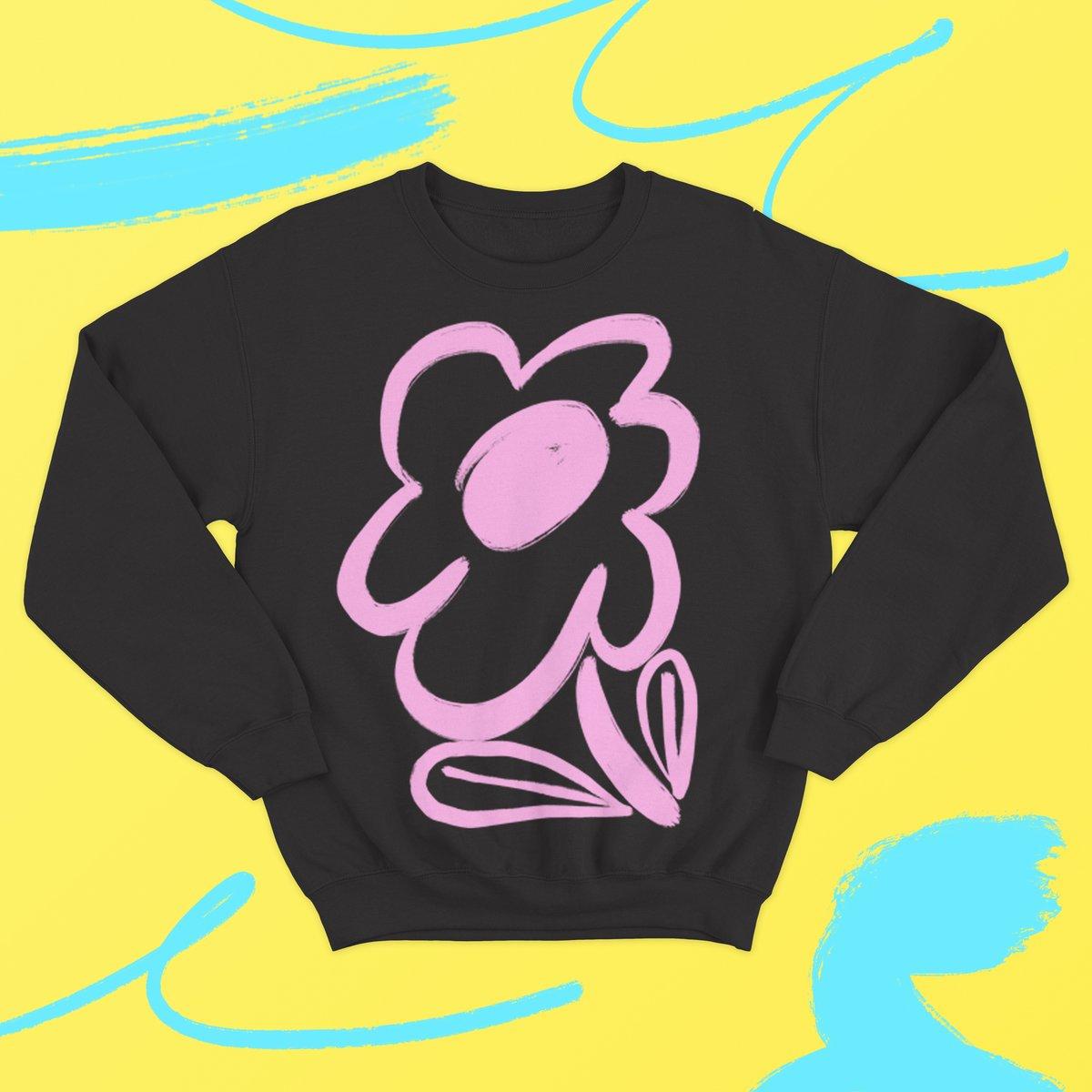 Image of Bloom Sweatshirt - Black