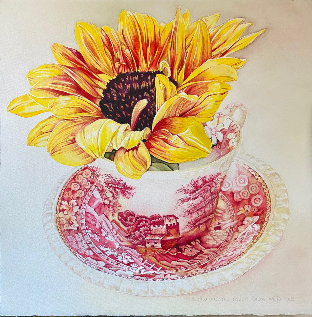 Image of SUNFLOWER in SPODE (Unframed) Prints coming soon!