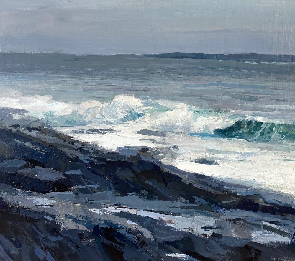 Image of Bailey Island surf ,  Maine