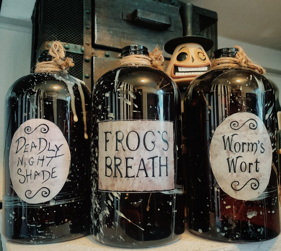 Image of Nightmare Before Christmas Potions Decor Bottle Set