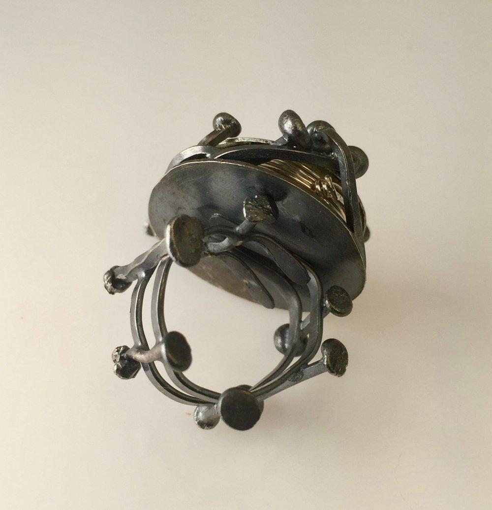 Image of Enameled Prayer Box Goddess Ring