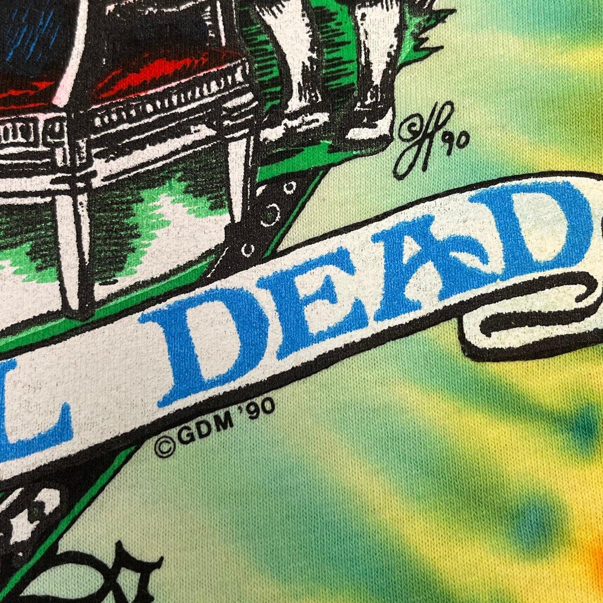 Original Vintage Grateful Dead Philly 25 Years NFA 1990 Dye!  - XL