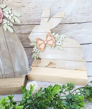 Image of Faux Shiplap Bunny Shelf Sitters