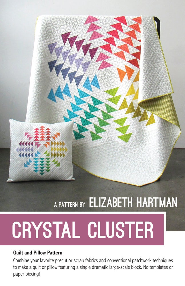 Image of CRYSTAL CLUSTER - pdf quilt and pillow pattern