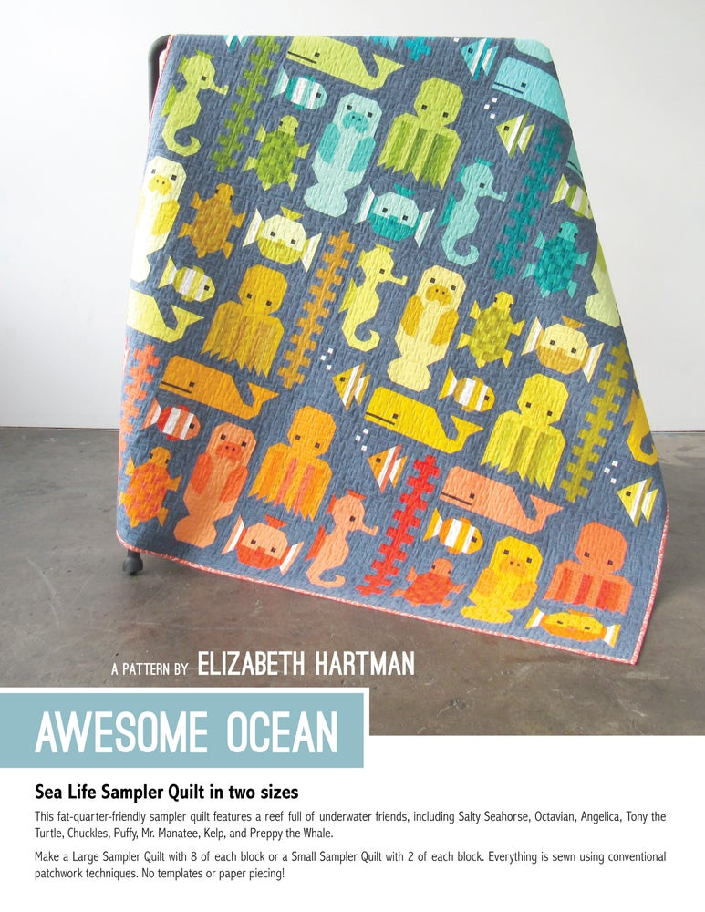 Image of AWESOME OCEAN pdf quilt pattern