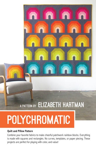Image of POLYCHROMATIC pdf quilt and pillow pattern