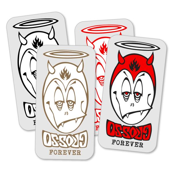 "Image of GROSSO ""FOREVER"" Egg Head sticker"