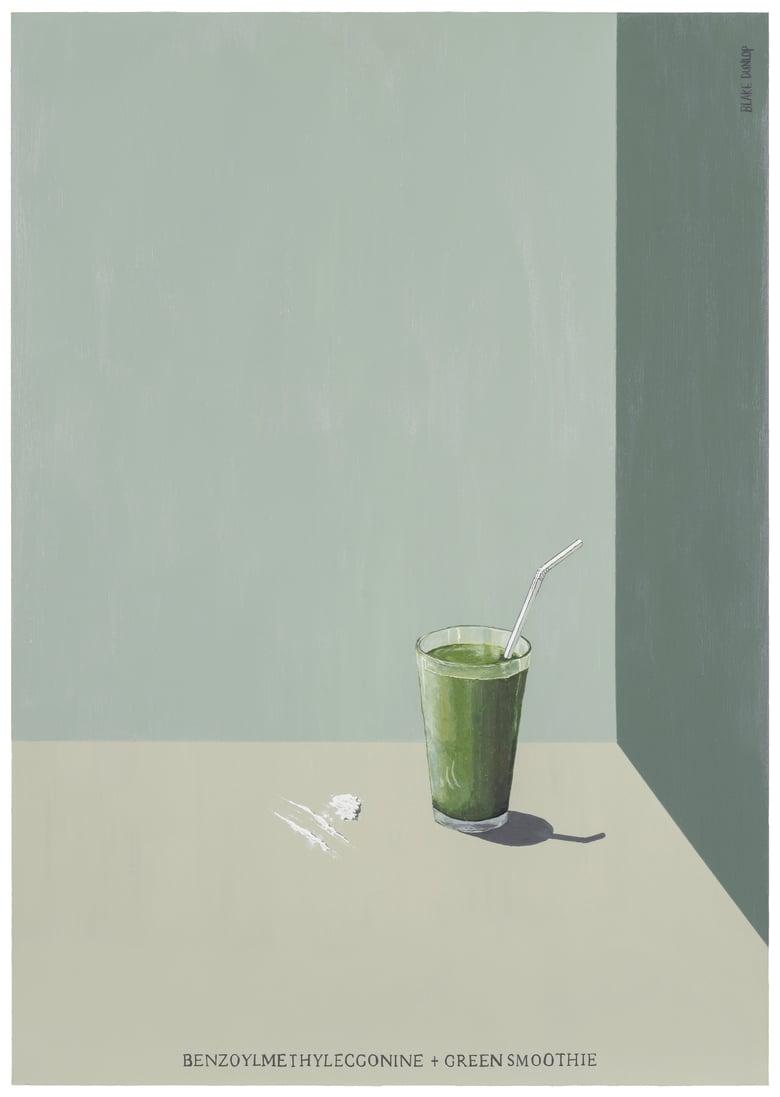 Image of Benzoylmethylecgonine and Green Smoothie - SIGNED PRINT - Blake Dunlop