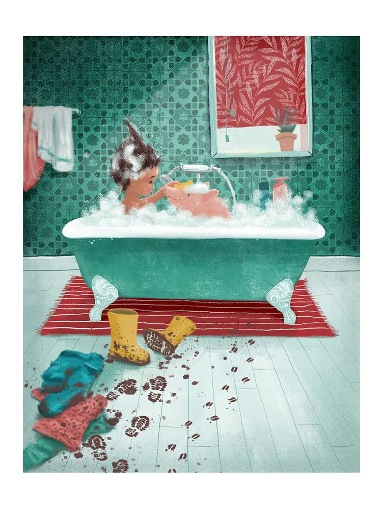 Image of Fine Art Print 'Bath time'