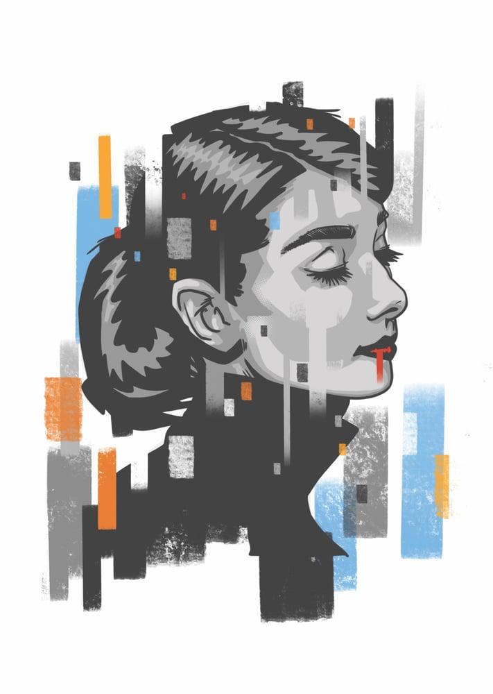 Image of Up down 'Hepburn' poster