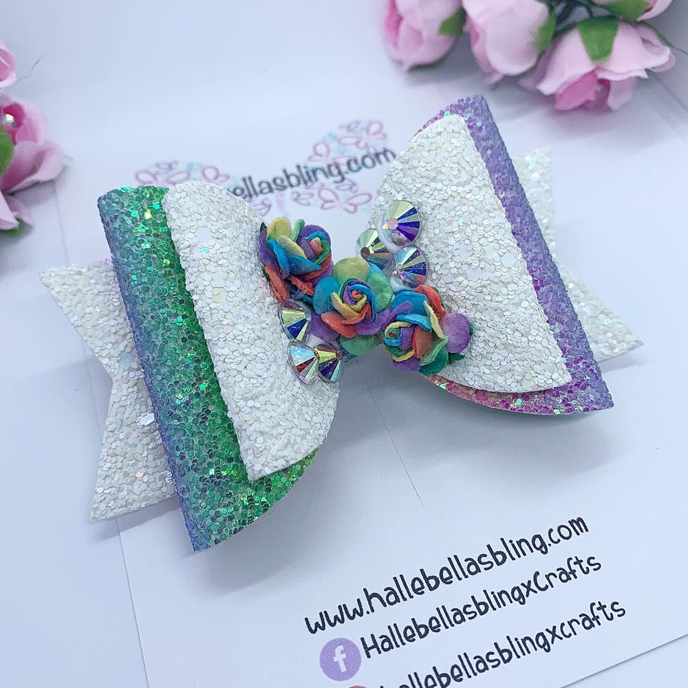Image of Floral rainbow sparkle