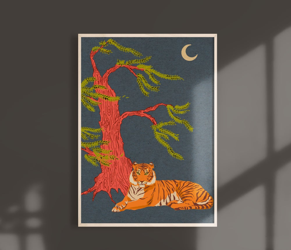 Image of A4/3 Giclèe Print | The Majestic Tiger