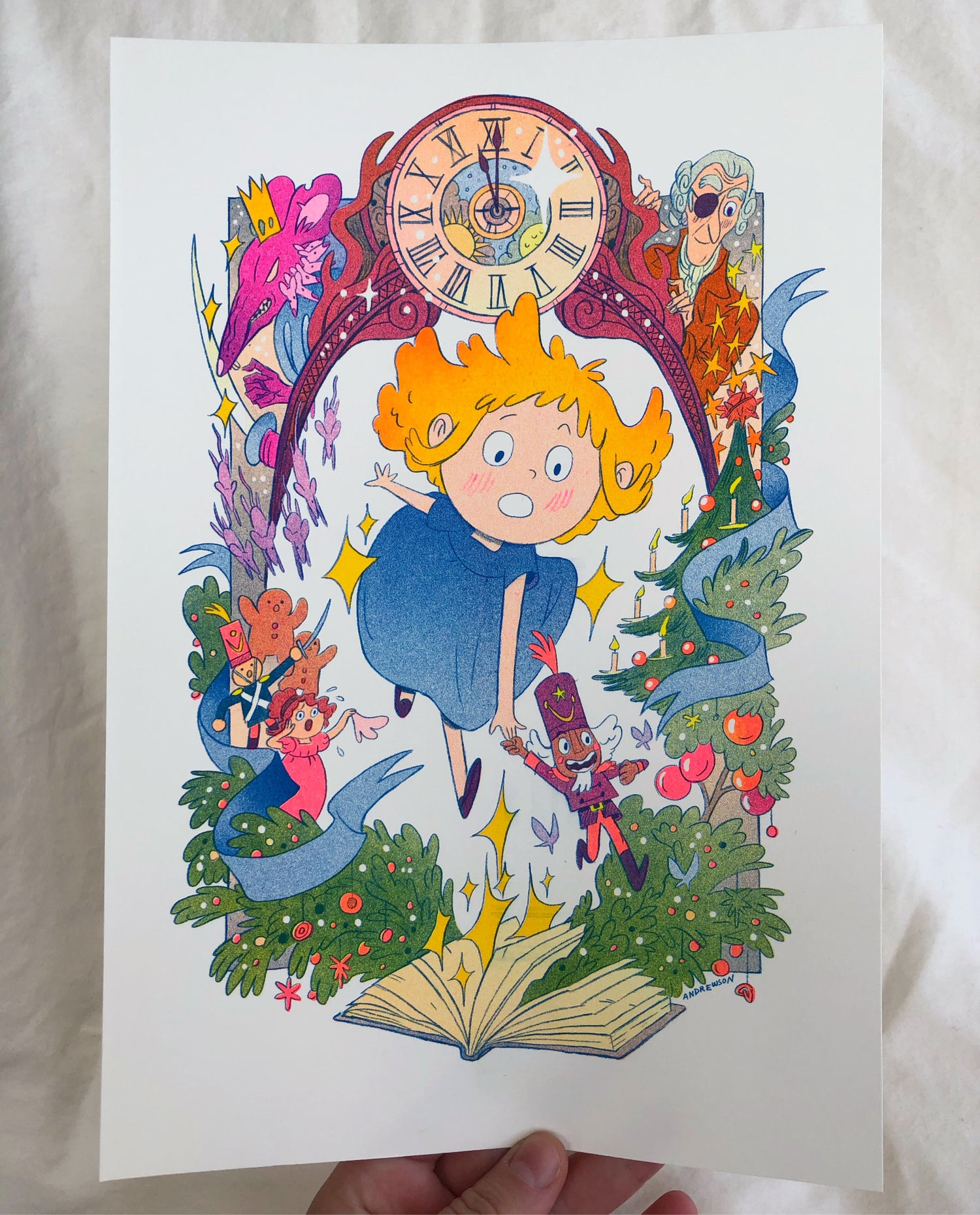 The Nutcracker and the Mouse King Risograph Print