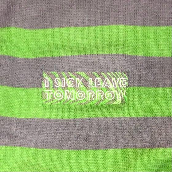 Image of ZEBRA CREW NECK SWEATER (GREEN / GRAY)