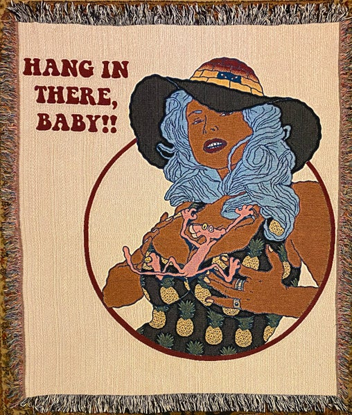 Image of HANG IN THERE, BABY!! Woven blanket PREORDER