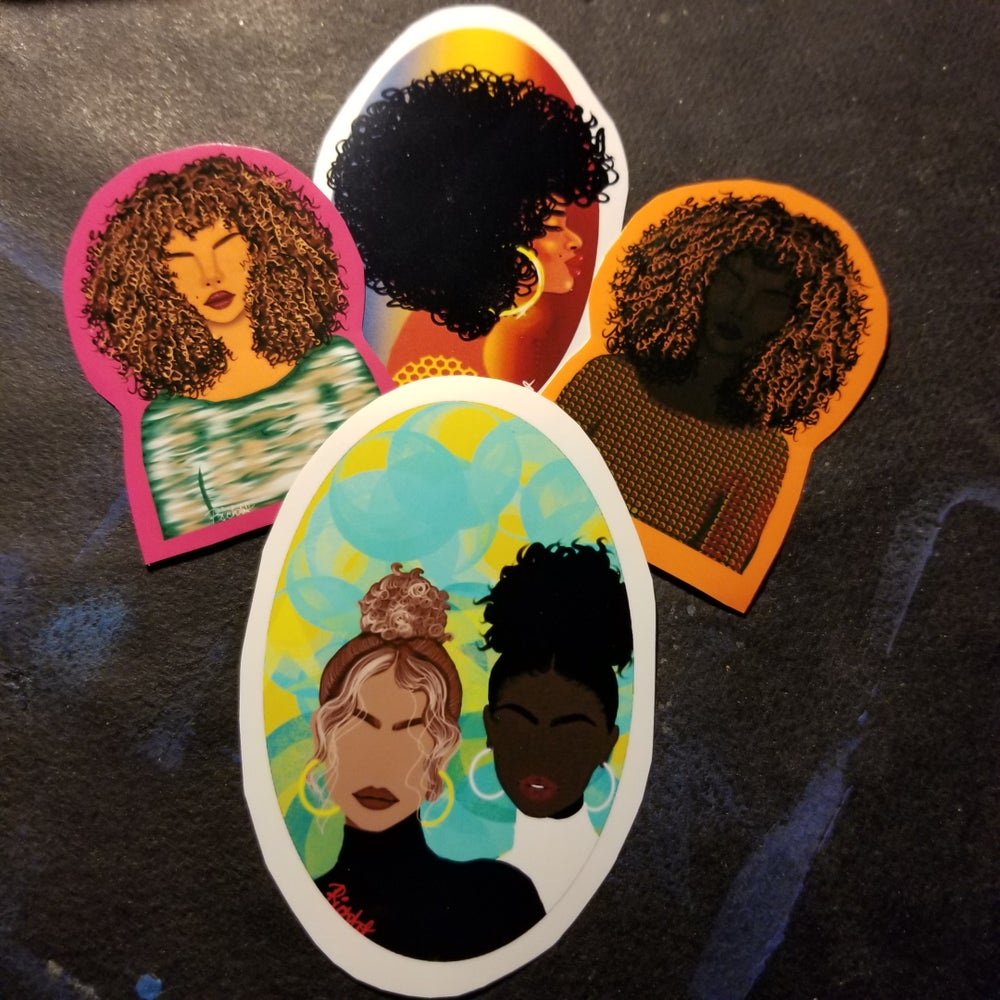 Image of Natural curls sticker pack