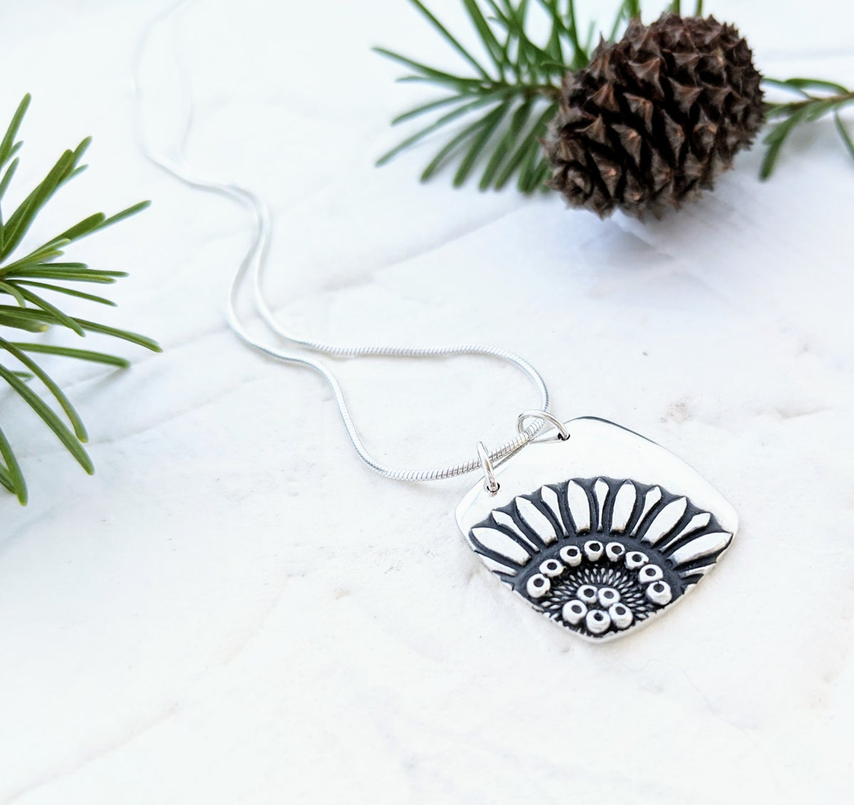 Image of Sunflower Square necklace