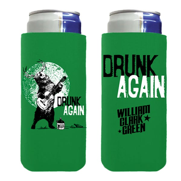Image of Green Drunk Again Slim Koozie
