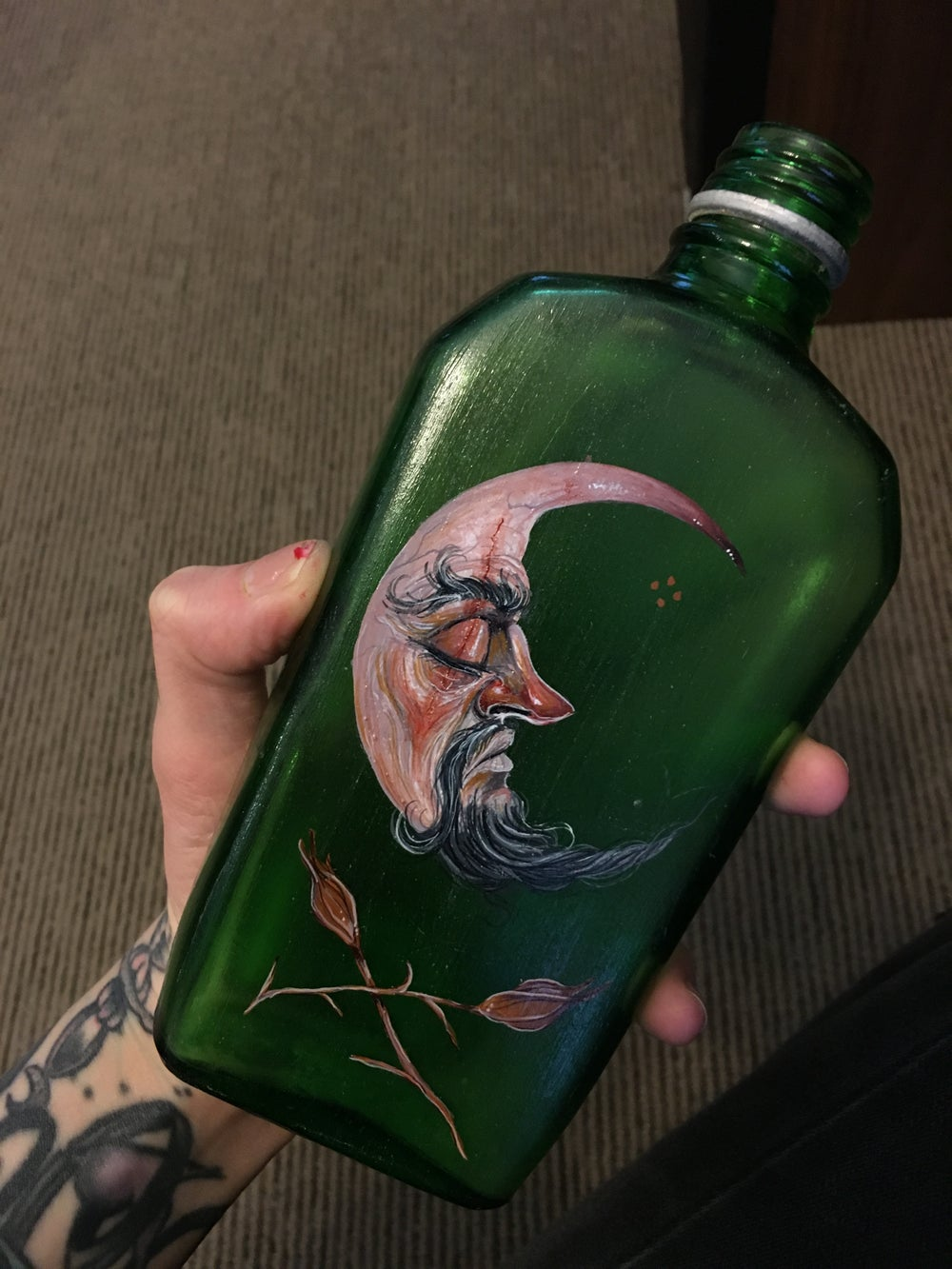 Moon Man Vintage Bottle
