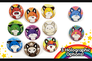 Image of NEW Rainbow Fox Pins