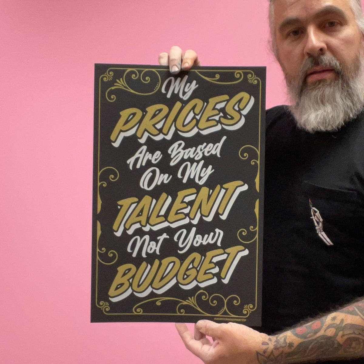 "Image of Prices based on talent 12x18"" Print"
