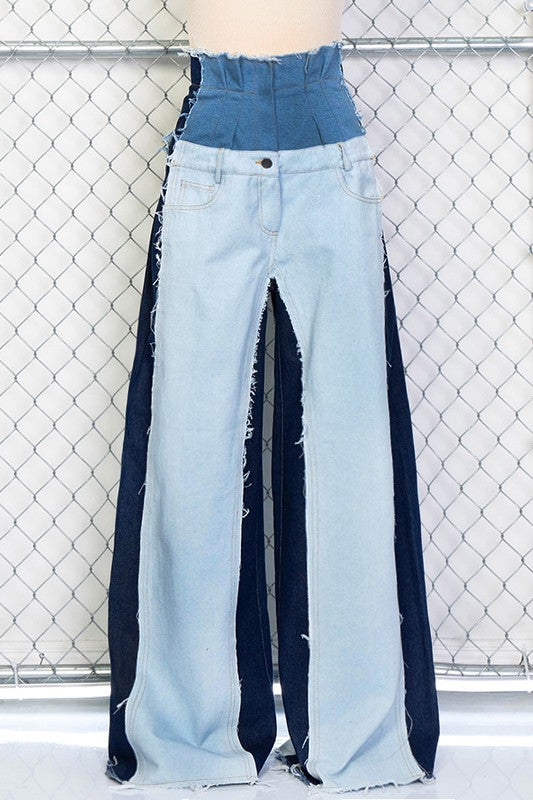 Image of Denim Palazzo Pants