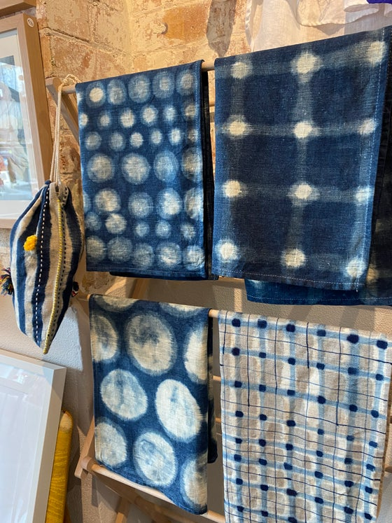 Image of Painting on fabric with indigo and fabric paint with Cath..Sunday November 21st 10-1pm