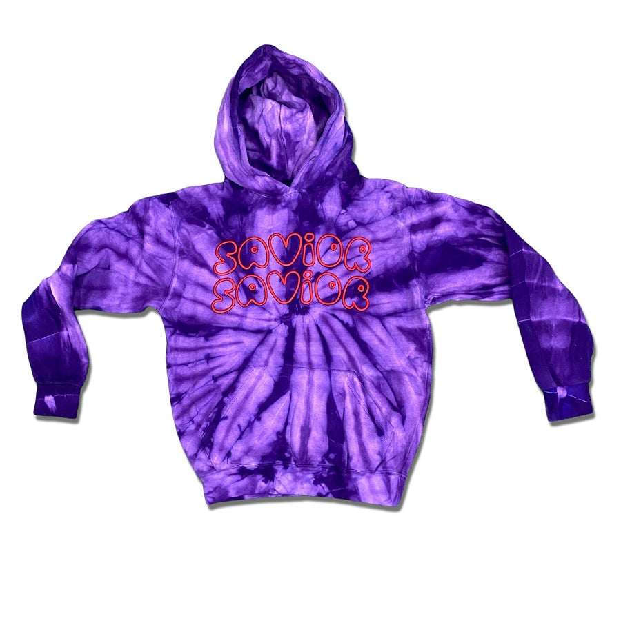 Image of PUFF HOODIE +  Spider Purple