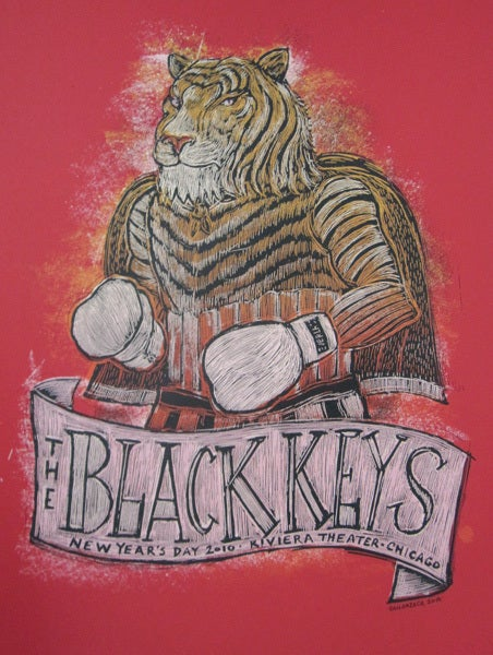 Image of The Black Keys New Years Day Poster 2010