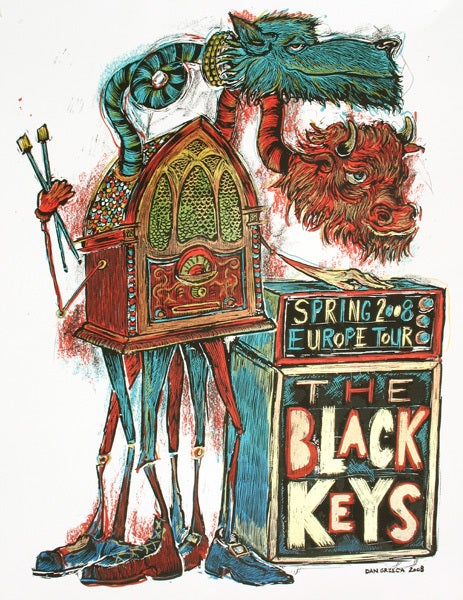 Image of The Black Keys New Years European Tour Poster