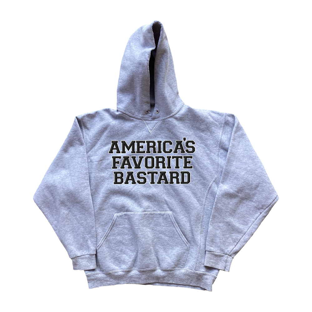 "Image of ""America's Favorite Bastard"" Embroidered Hoodie"