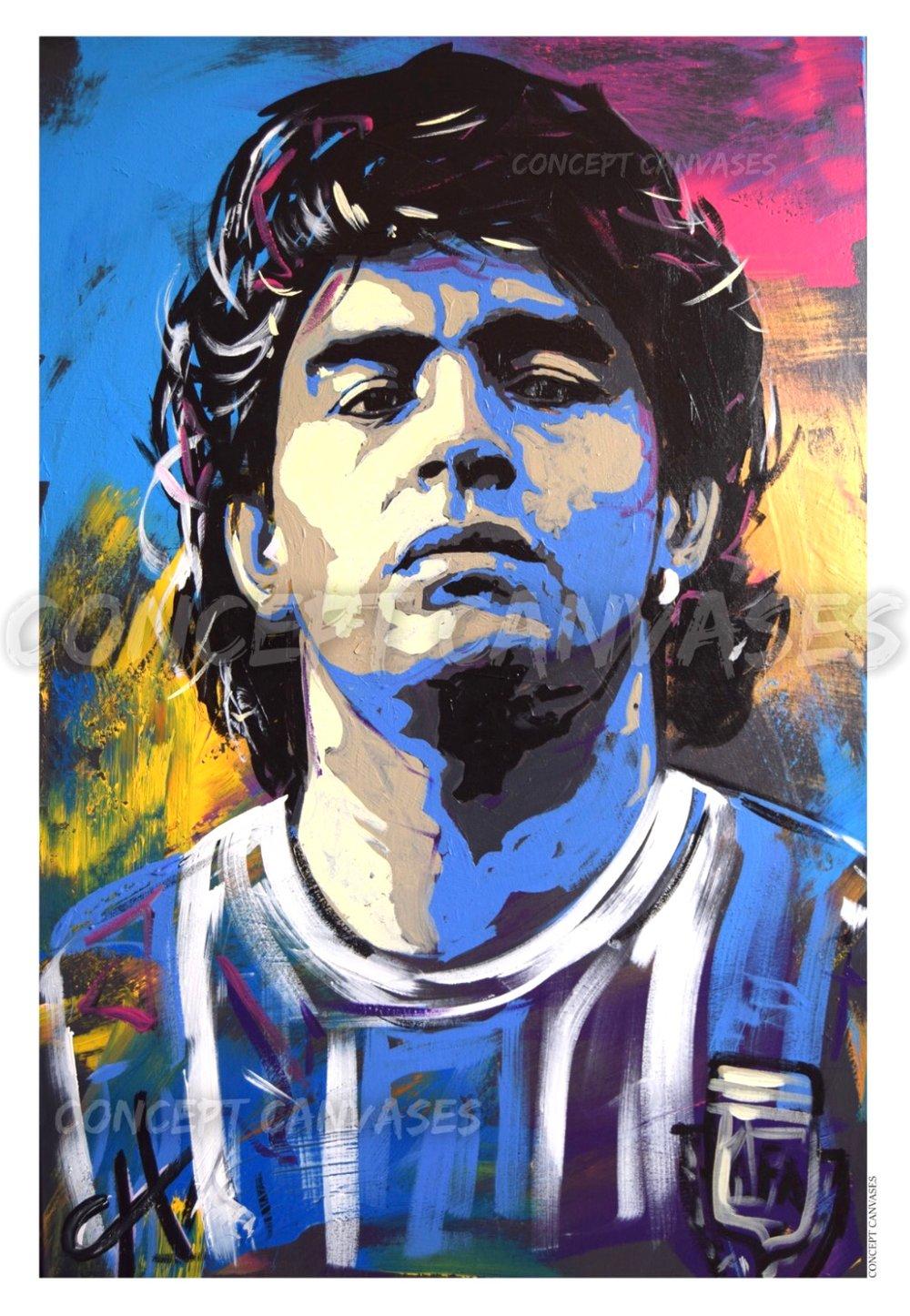 Image of Maradona 'Eternal' High Quality A1 Print (LARGE)