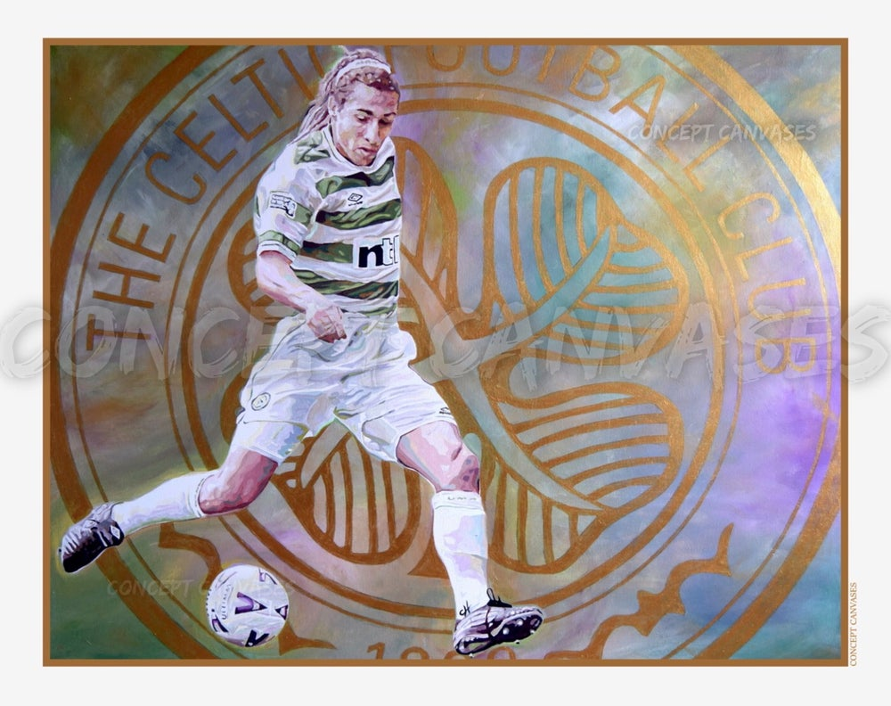 Image of Henrik Larsson 'Gold Standard' A3 Print