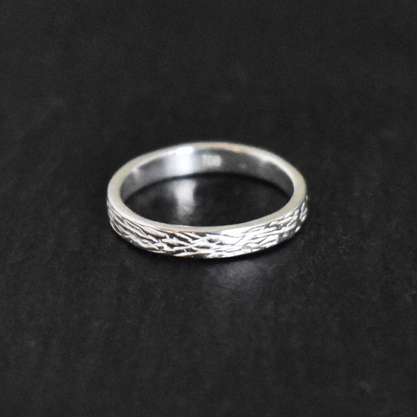 Image of Silver Scratches silver band ring