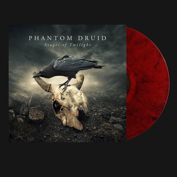 Image of PHANTOM DRUID - Stages of Twilight. LP - Gatefold - Transparent Red/Black Marbled Vinyl.