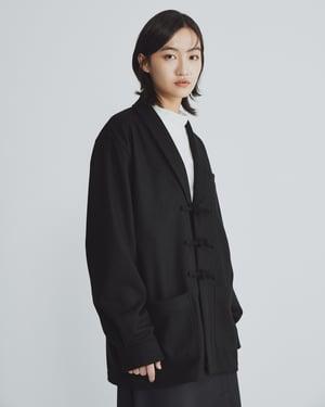 Image of TRAN - 盤釦羊毛西裝外套 (黑)