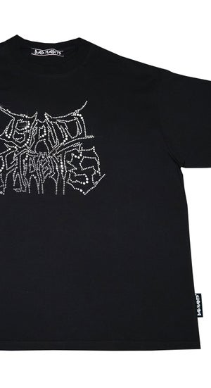 Image of Bad Habits - strass tee