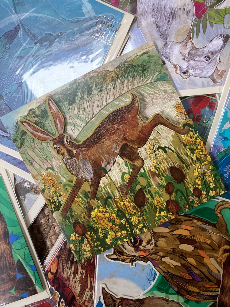 Image of Teasel Hare - Greetings card