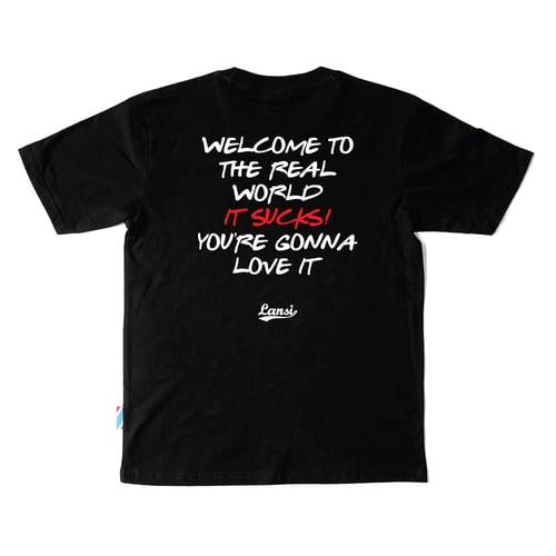 """Image of LANSI """"Friends"""" T-shirt (Black)"""