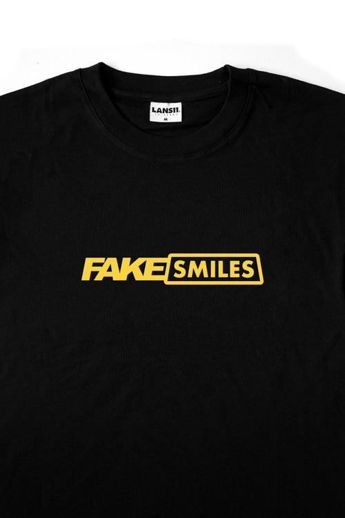 "Image of LANSI ""Fake Smiles"" T-shirt (Black)"